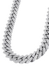 "Diamond 10K Yellow Gold Cuban Chain & Letter ""V"" Pendant 