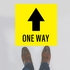 One Way Floor Stickers