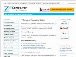 https://www.itcontractoraccountants.com website