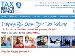 https://www.taxrebateservices.co.uk/ website