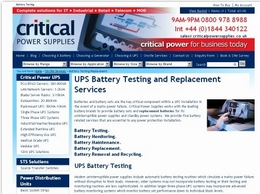 https://www.criticalpowersupplies.co.uk/ups-services/ups-battery-testing-replacement website