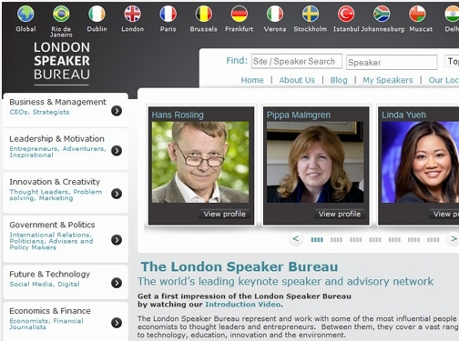 https://londonspeakerbureau.com/ website