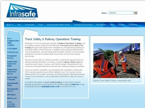 http://www.infrasafe.co.uk/training-and-assessment/track-safety-training website