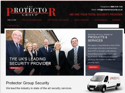 https://www.protectorsecurity.co.uk/ website