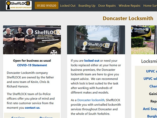 https://doncasterlocksmith.co.uk/ website