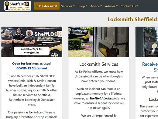 https://www.shefflock.co.uk/ website