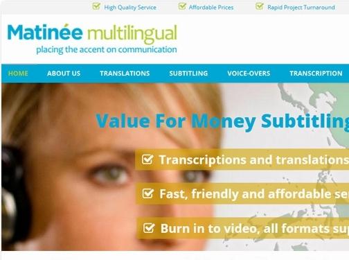 http://www.matinee.co.uk website