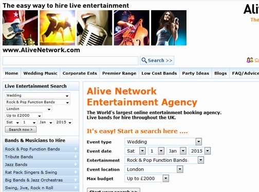 http://www.alivenetwork.com/hirelivemusic/hire_local_bands_in.asp?area=Hertfordshire&town=St+Albans website