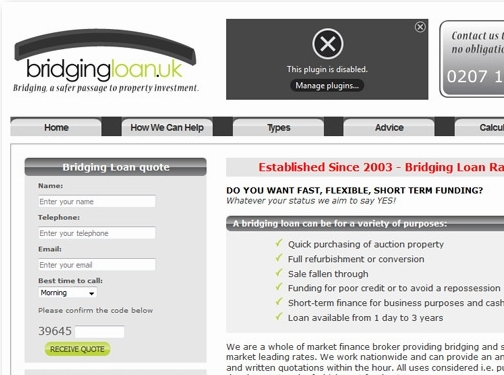 https://www.ukpropertyfinance.co.uk/bridging-loans/ website