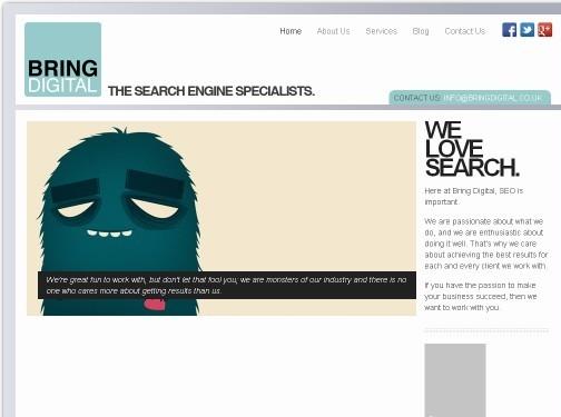 https://www.bringdigital.co.uk website