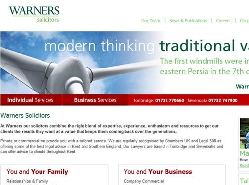 https://www.warners-solicitors.co.uk/ website