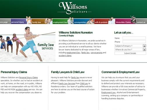 https://www.willsonssolicitors.co.uk/ website