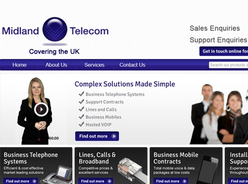 https://www.midlandtelecom.co.uk/ website