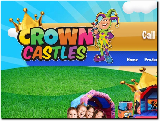 https://www.crownbouncycastlehire.co.uk/ website