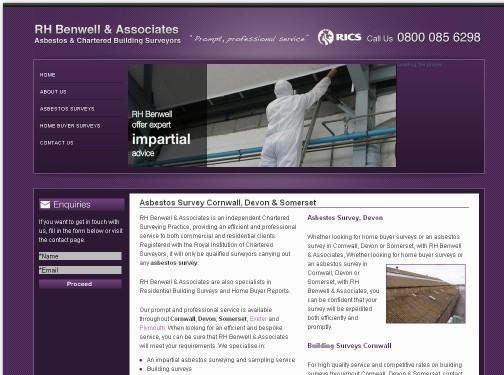 https://rhb-asbestossurvey.co.uk/ website