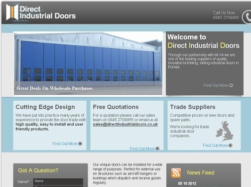 http://www.directindustrialdoors.co.uk/ website