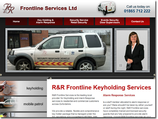 https://www.randrfrontlineservices.co.uk/ website