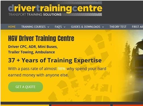 https://drivertrainingcentre.co.uk/ website