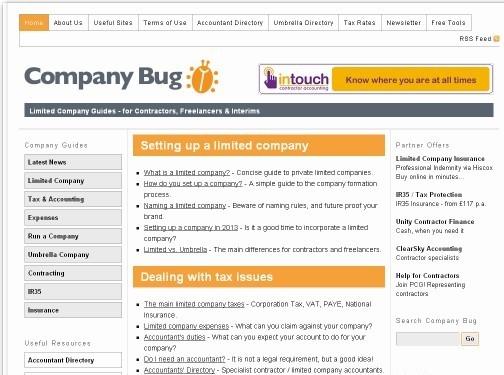 https://www.companybug.com website