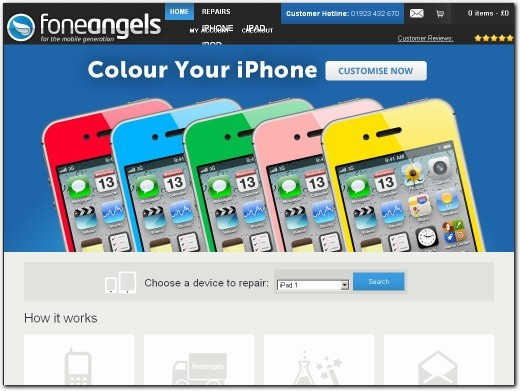 https://www.foneangels.co.uk/ website