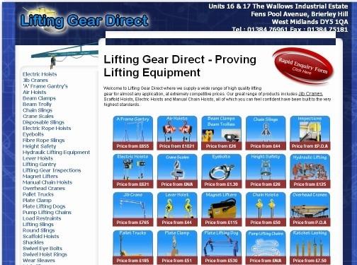 https://www.liftinggeardirect.co.uk/ website