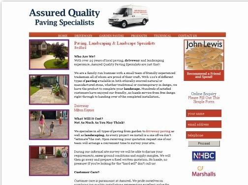http://www.assuredpaving.co.uk/ website