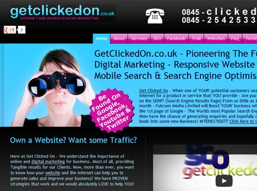 http://www.getclickedon.co.uk website