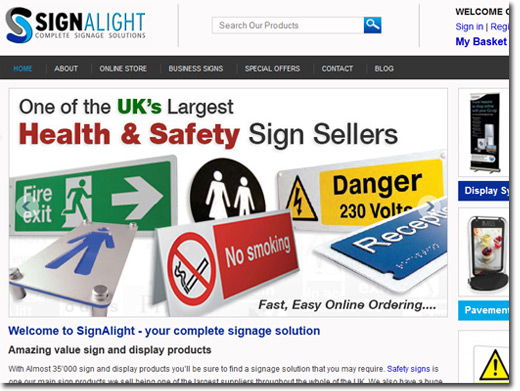 http://www.signalight.co.uk website