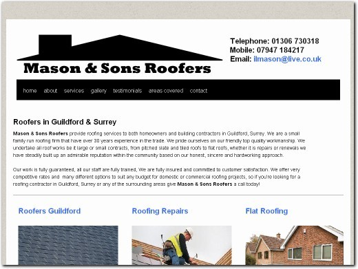 http://www.masonandsonsroofers.co.uk website