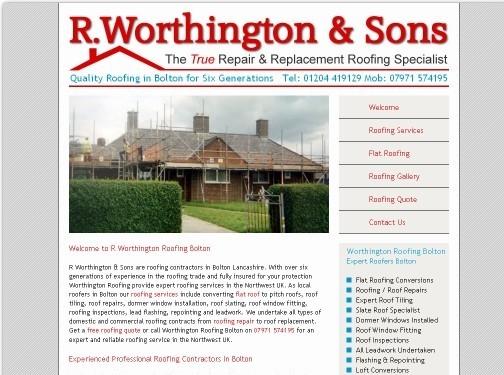https://www.worthingtonroofing.co.uk/ website
