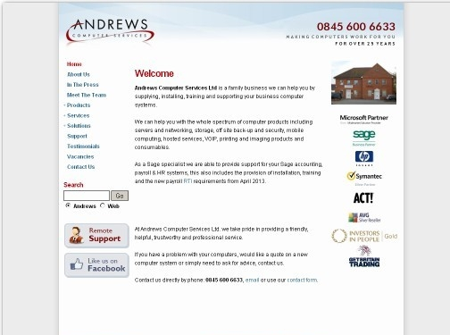 https://www.andrews-computers.com/ website