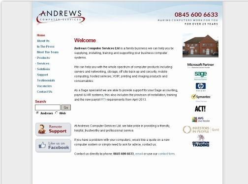 https://www.andrews-computers.com/ website