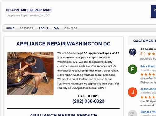 https://www.dcappliancerepairco.com/ website